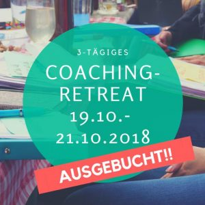 Coaching Retreat Oktober (early bird Angebot bis 14. Sep)
