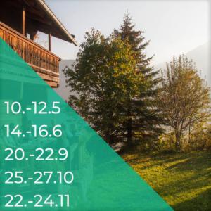 12-Wochen-Programm inkl. 3-Tages Hütten-Workshop