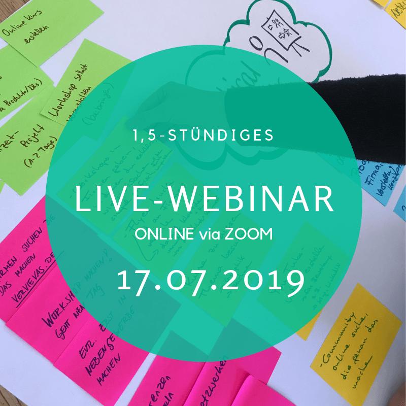 Live Webinar 17 07 2019 | aha-retreats com