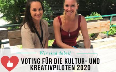 Deine Stimme zählt für uns –   Wir möchten Kreativpilot 2020 werden