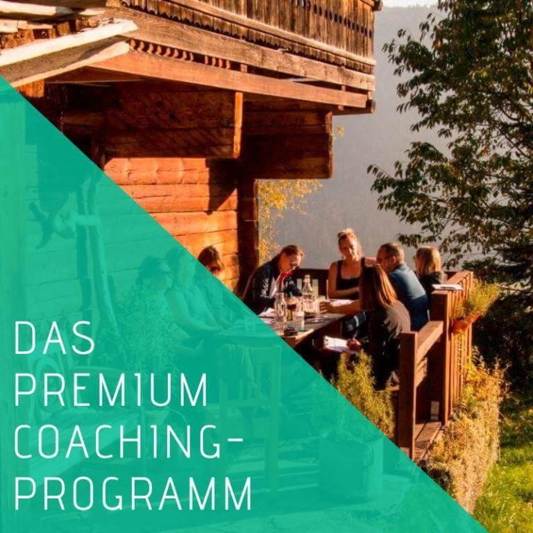 Premium Coaching Programm berufliche Veränderung Aha Retreats